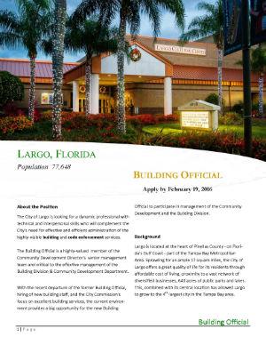 Largo Florida Building Official Job At City Of Largo